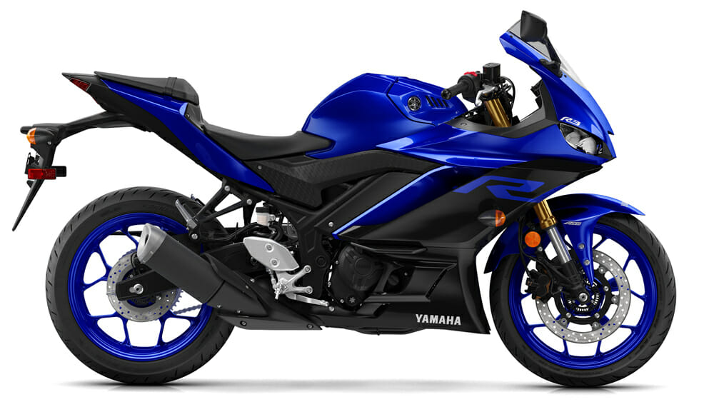 The 2019 Yamaha YZF-R3 has an MSRP of $4999, $5299 for the one with ABS.