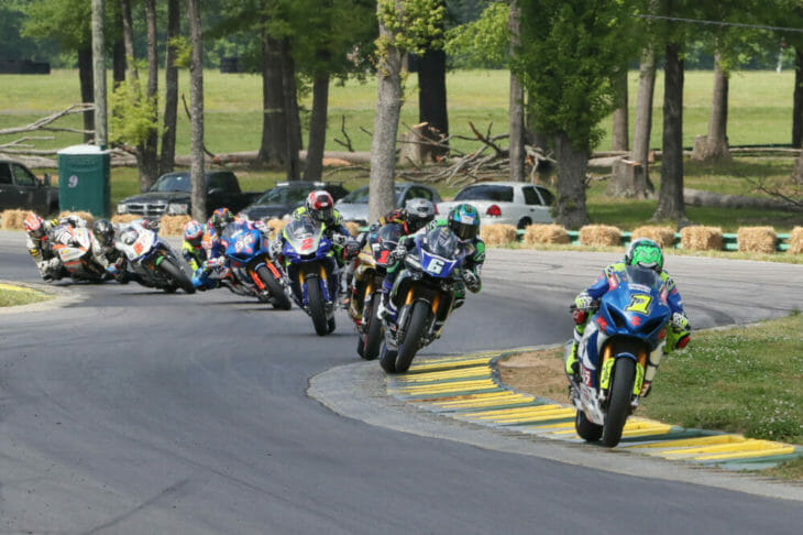 MotoAmerica FS2 Toni Elias leads at VIR