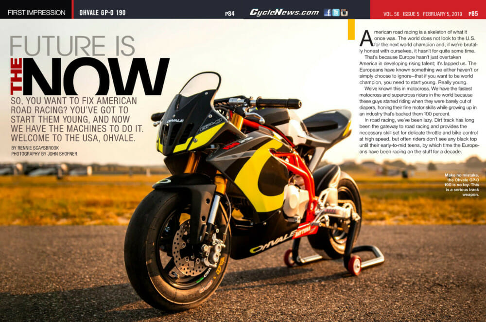 Rise Moto is the new importer of Italian Ohvale GP-0 190 purpose-built road-racing mini bike.