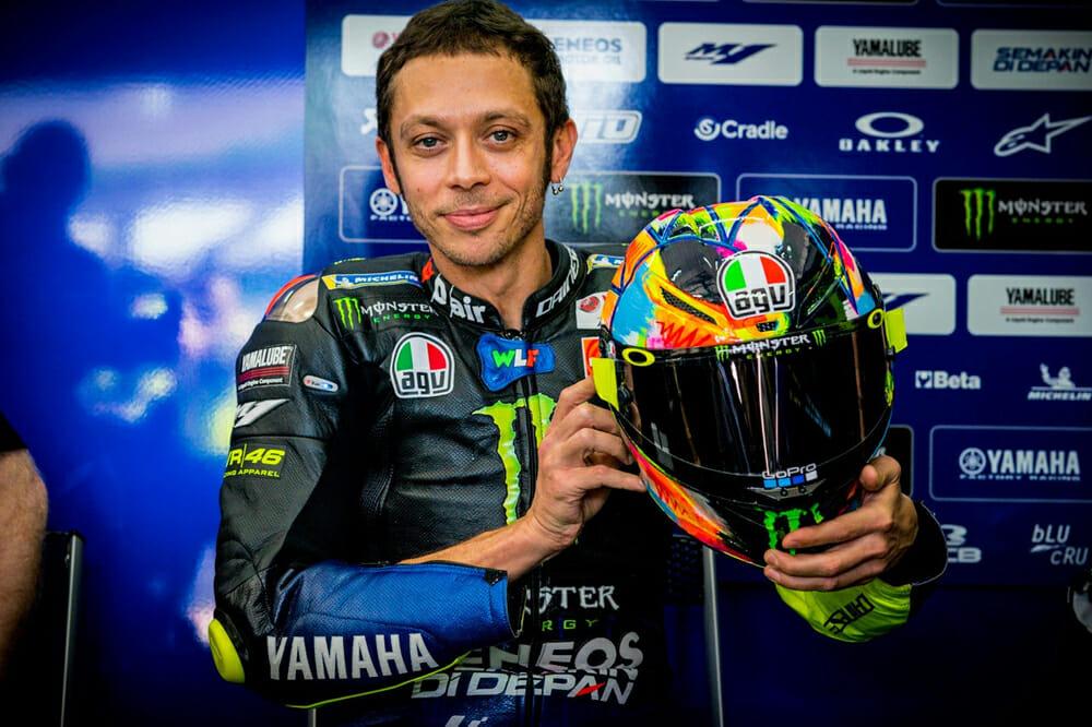 Valentino Rossi Presents the Pista GP R 2019 Winter Test Helmet