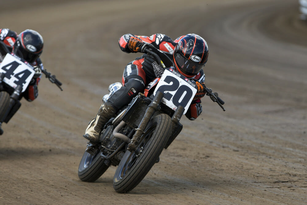 The 2014 AMA Pro GNC2 Twins champion, Jarod Vanderkooi won his first pro event on the Springfield Mile.
