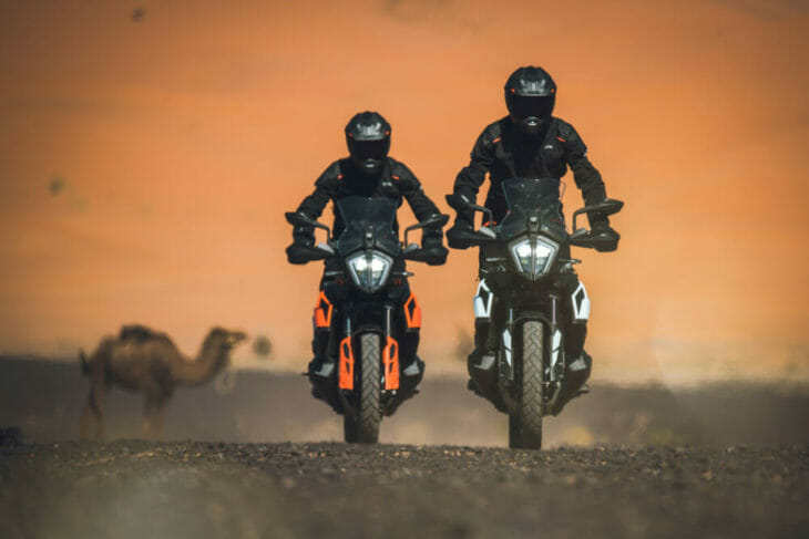Andreas 2019 KTM 790 Adventure R travel shot