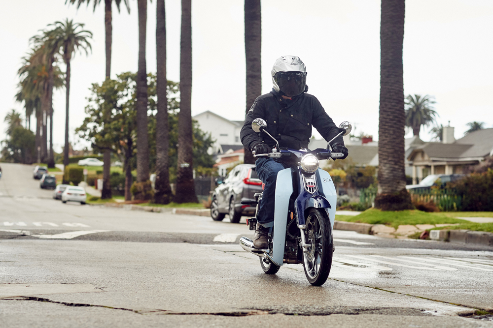 Honda claims over 100 miles from a single gallon of gas with the C125 Super Cub.