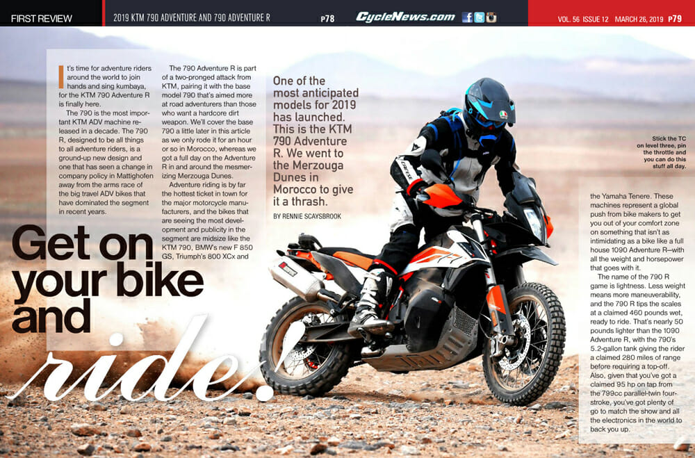 This is the KTM 790 Adventure R, the most important KTM ADV machine released in a decade.