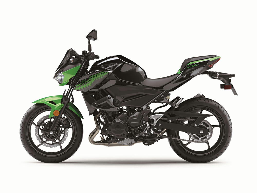 Specifications for the 2019 Kawasaki Z400 ABS are practically the same as the 2018 Kawasaki Z400.