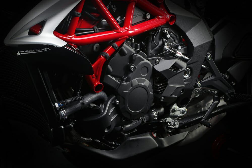 2019 MV Agusta Dragster 800 RR America engine