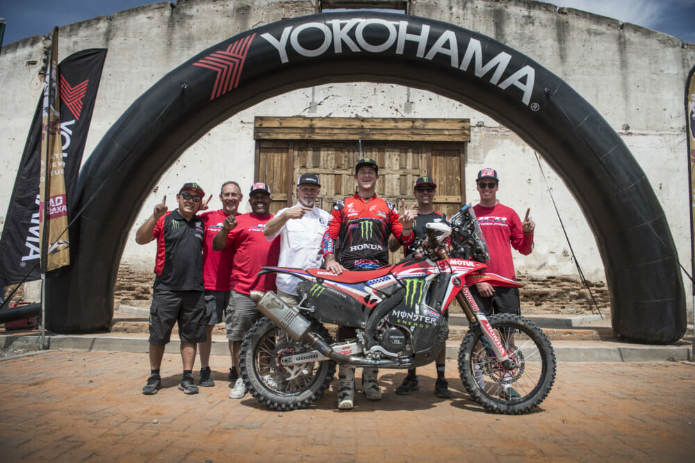 Monster Energy Honda Team's American rider Ricky Brabec claimed victory in the Sonora Rally after dominating the race held in the desert of north-western Mexico.