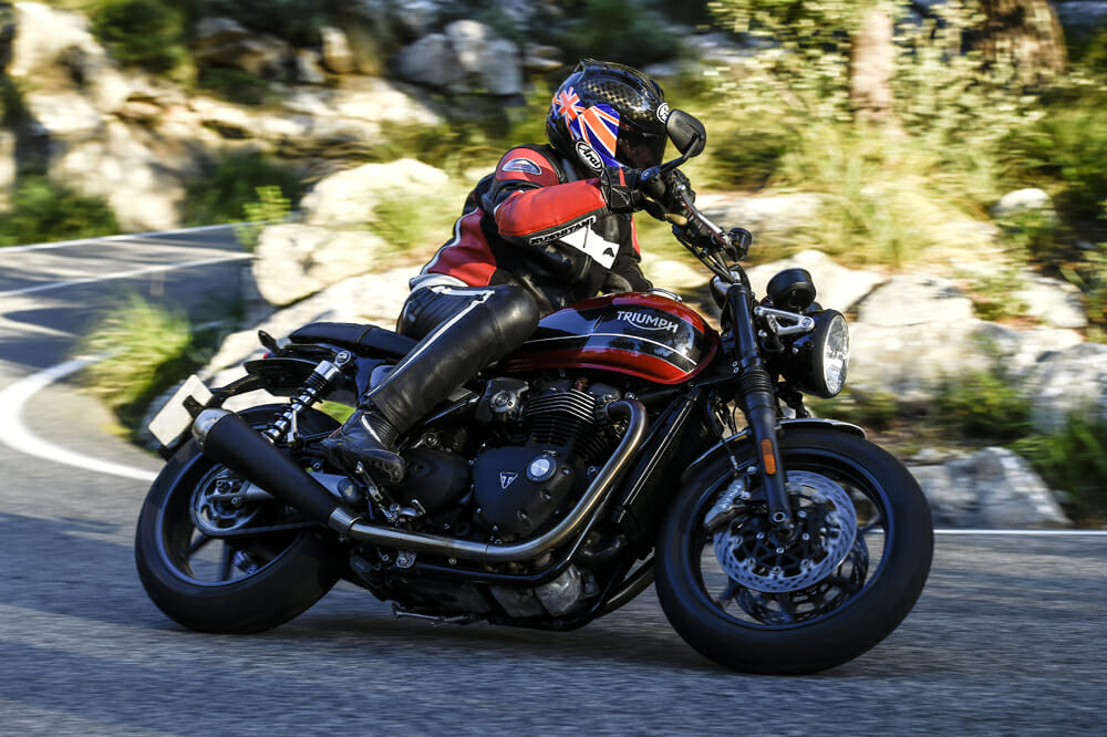 Alan Cathcart's 2019 Triumph Speed Twin review takes him on a 170-mile ride through the mountains on the Island of Mallorca.