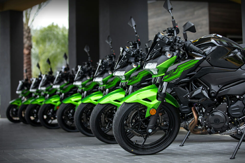 Keviin Wing is the photographed the 2019 Kawasaki Z400 ABS.