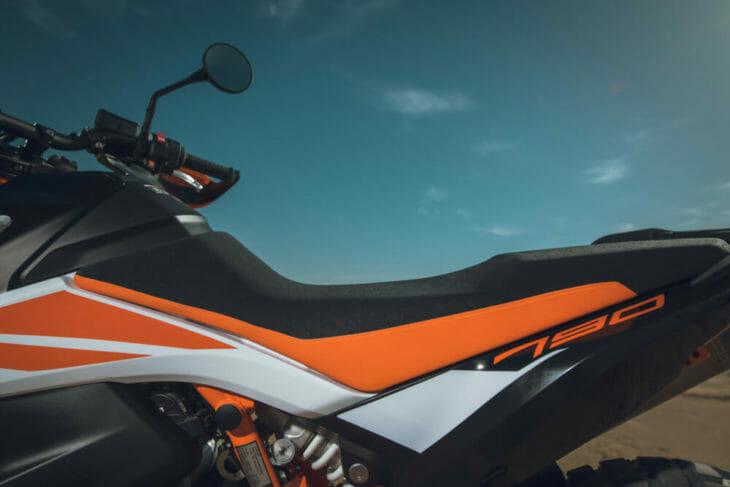 2019 KTM 790 Adventure R seat shot