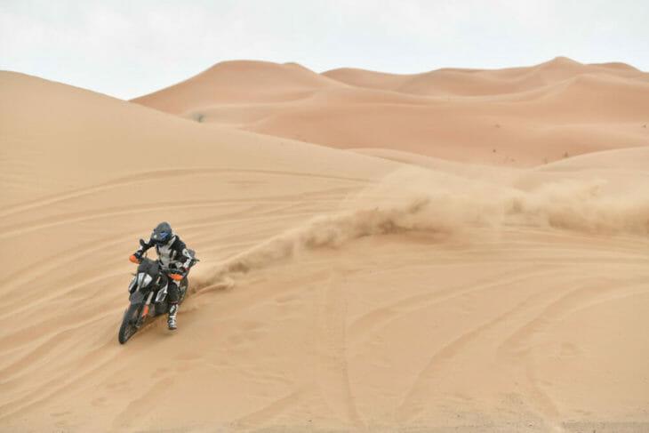 2019 KTM 790 Adventure R dune shot