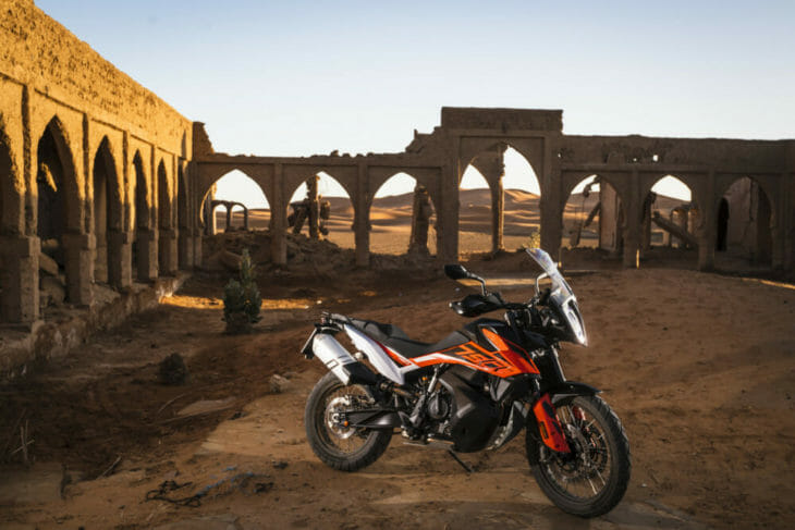 2019 KTM 790 Adventure R broken castle shot