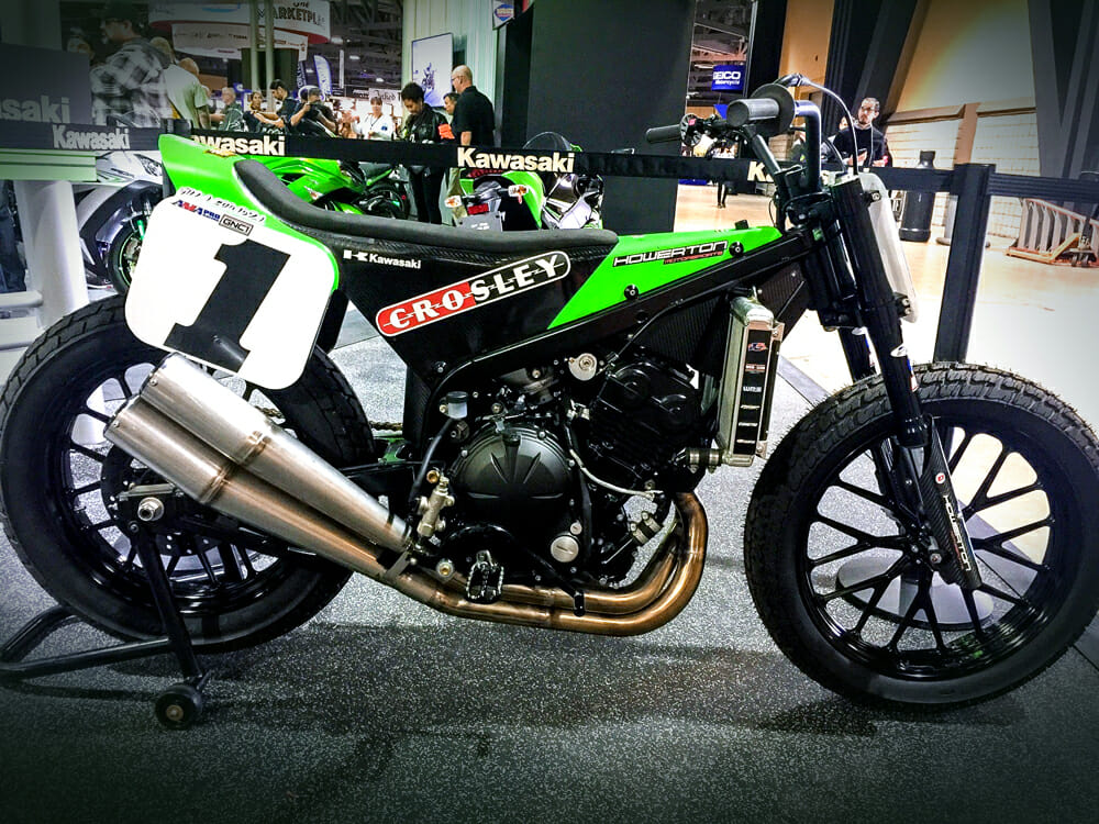 Bryan Smith's Kawasaki race bike from 2016