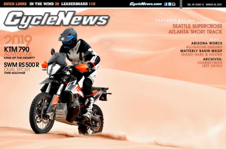 Cycle News Magazine #12: KTM 790 Adventure Review, Seattle SX...