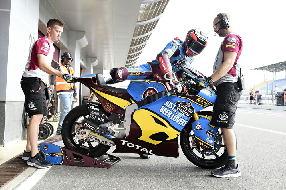 From the first race of the year at Qatar, the Triumphs have joined the Moto2 party
