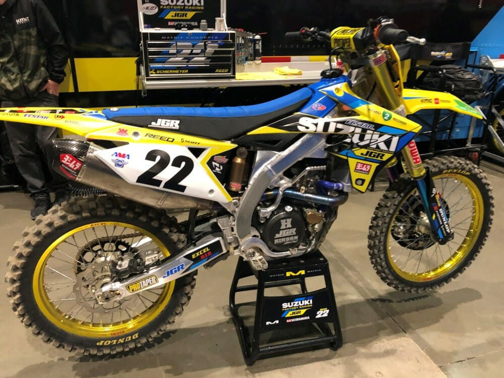 The Suzuki plastics from both Chad Reed and Justin Hill's bikes, along with Justin Hill's jersey will be signed and donated
