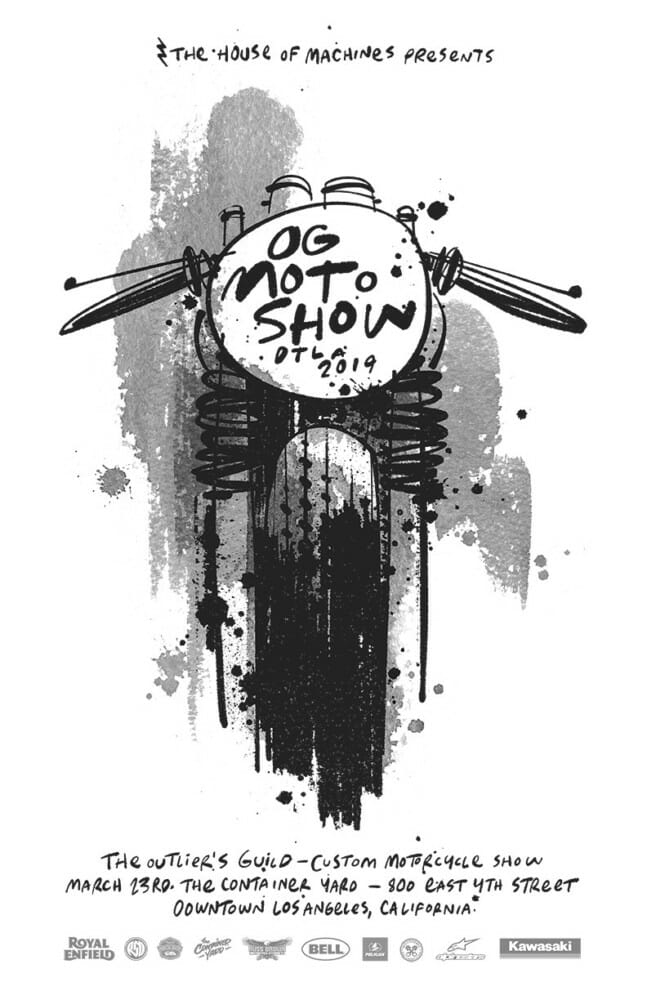 Outlier's Guild Custom Motorcycle Show Returns to Downtown Los Angeles on March 23