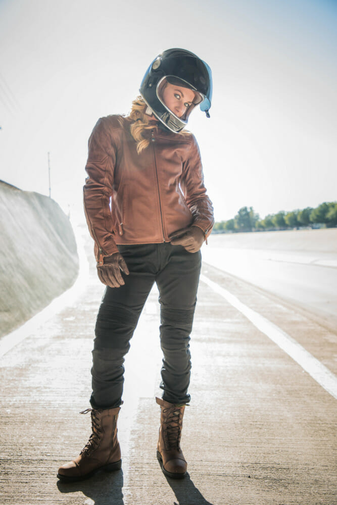 For 2019, RSD women's collection takes the lead. The Roland Sands Design Spring 2019 Collection includes jackets, footwear, riding pants, a vest and gloves.