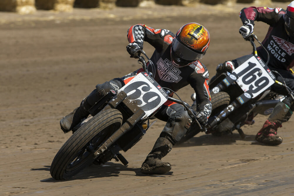Always a tenacious competitor, Sammy Halbert has won 13 times in AMA Grand National competition.