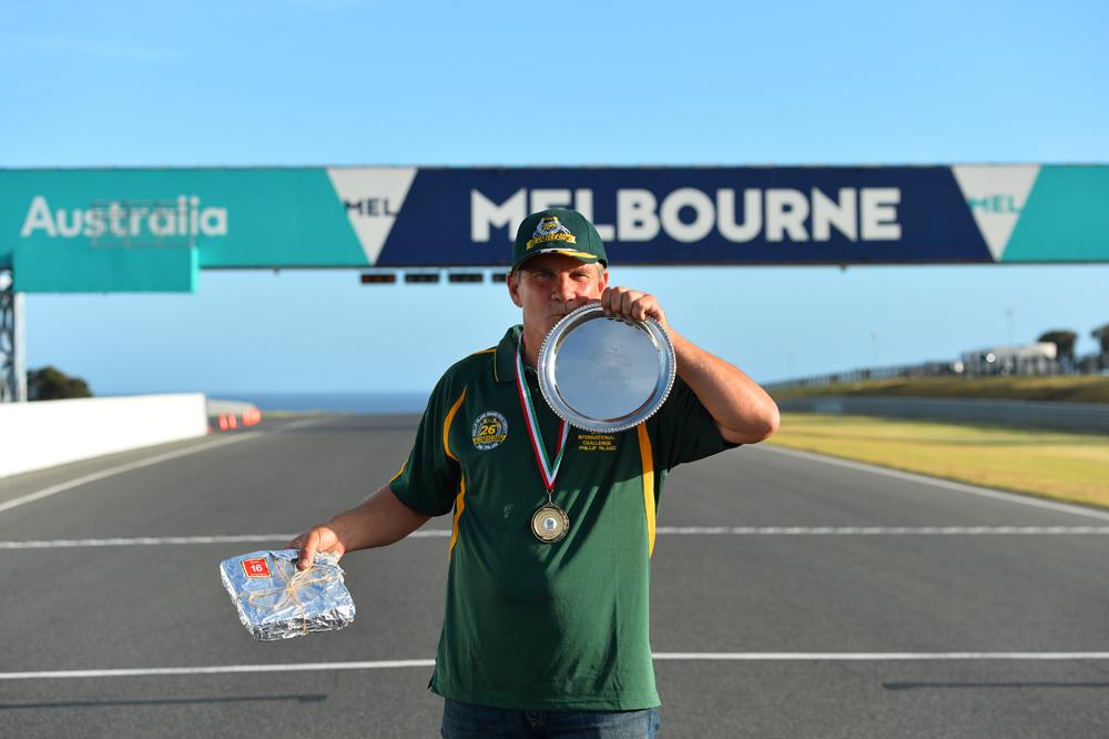 Ken Wootton Perpetual Trophy winner, Australia's Steve Martin.