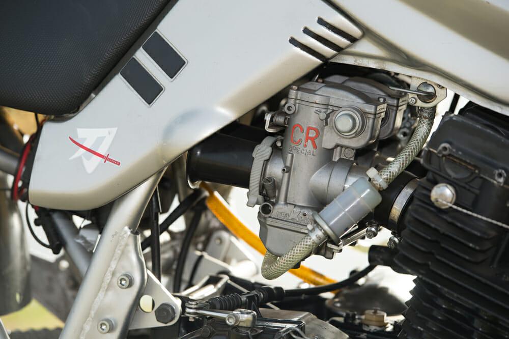 Keihin 37mm carburetor on a Suzuki Katana 1100.