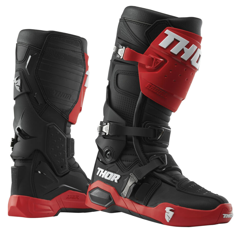 THOR Radial boots in red