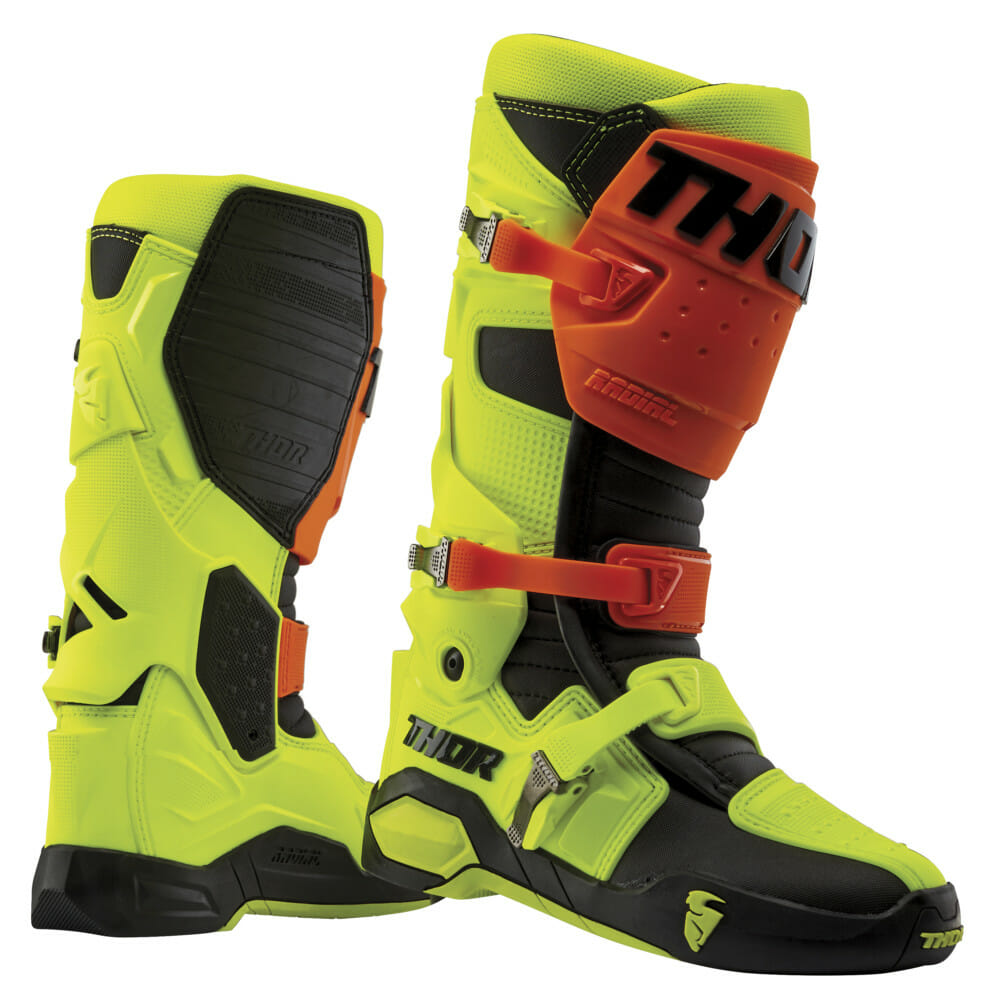 THOR Radial boots in fluo yllow\orange
