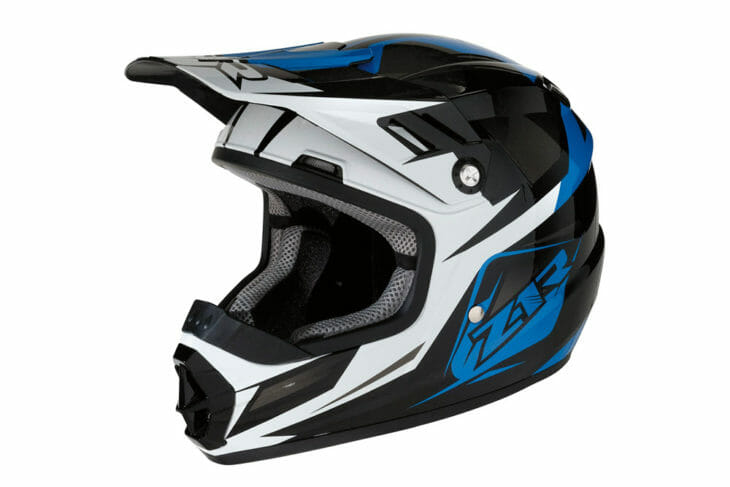 The new Z1R Rise Ascent Youth helmet is aimed at youth riders between kids and adult sized helmets. This is the Blue model.