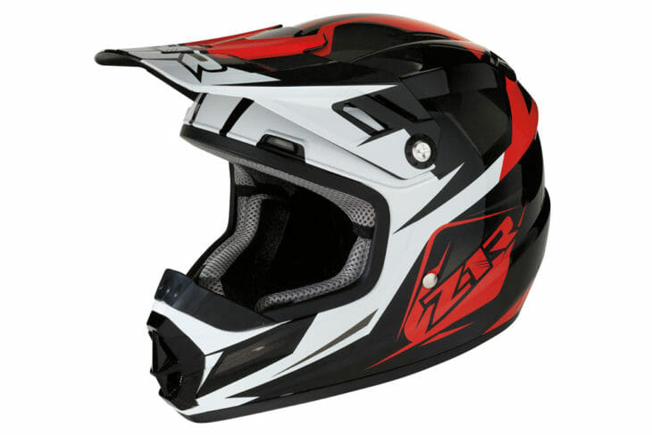 The new Z1R Rise Ascent Youth helmet is aimed at youth riders between kids and adult sized helmets. This is the Red model.
