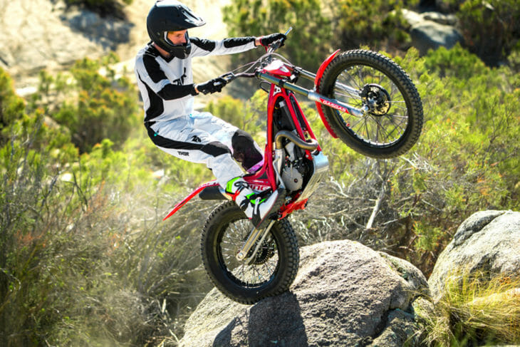 Trials bikes have come a long way in the past 20 years. Here's proof: the GasGas TXT Racing 300.