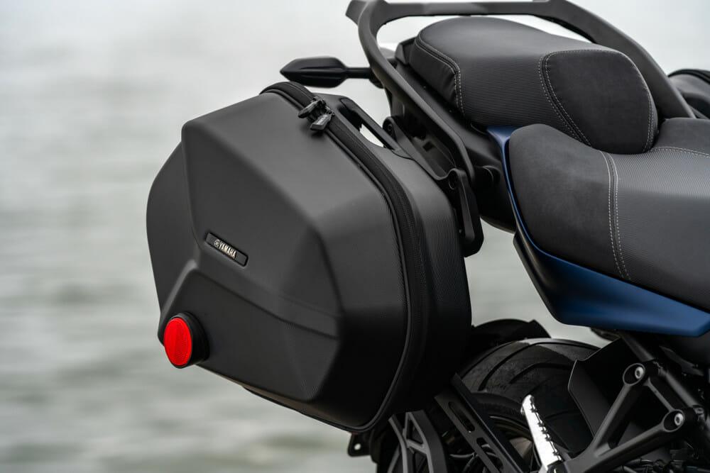 The 2019 Yamaha Niken GT saddlebags