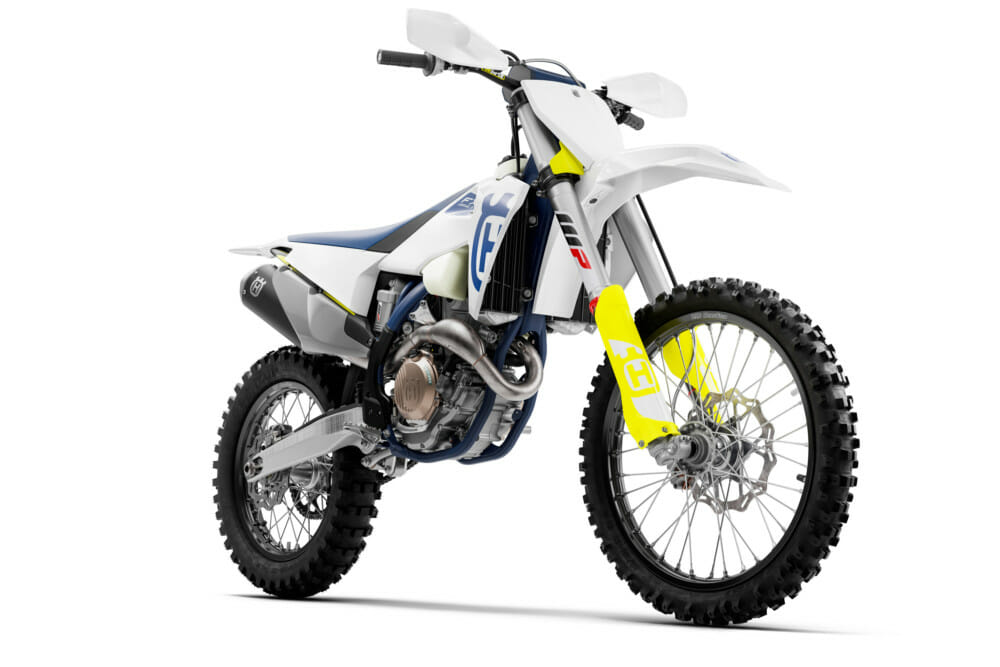 The Front right side of the 2020 Husqvarna FX 350