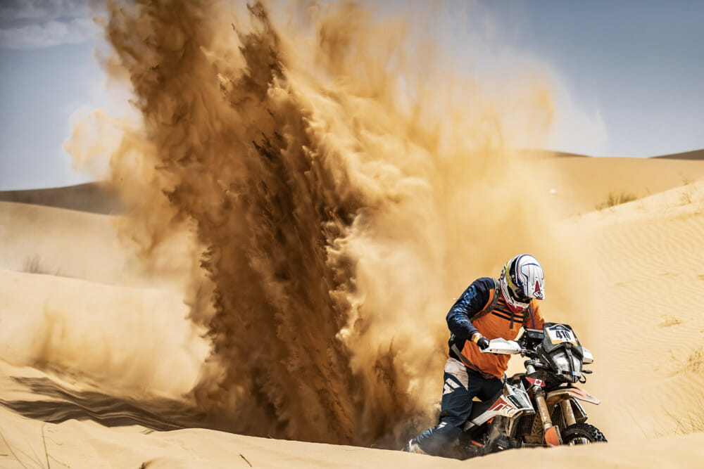Canadian Radek Burkat during stage four of the KTM Ultimate Race