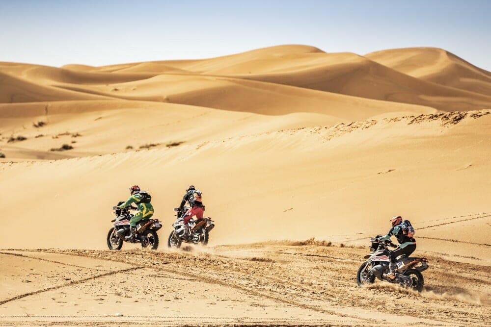 KTM 790 Adventure R's race across the dunes