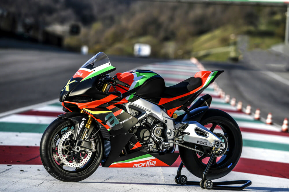 At the recent Aprilia All Stars Day at the Mugello MotoGP circuit in Italy, Aprilia took the wraps off a spectacular edition of their RSV4 superbike in the RSV4 X.