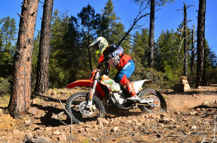 Legendary off-road rider Destry Abbott (KTM) takes a break from training to grab a third in AA.