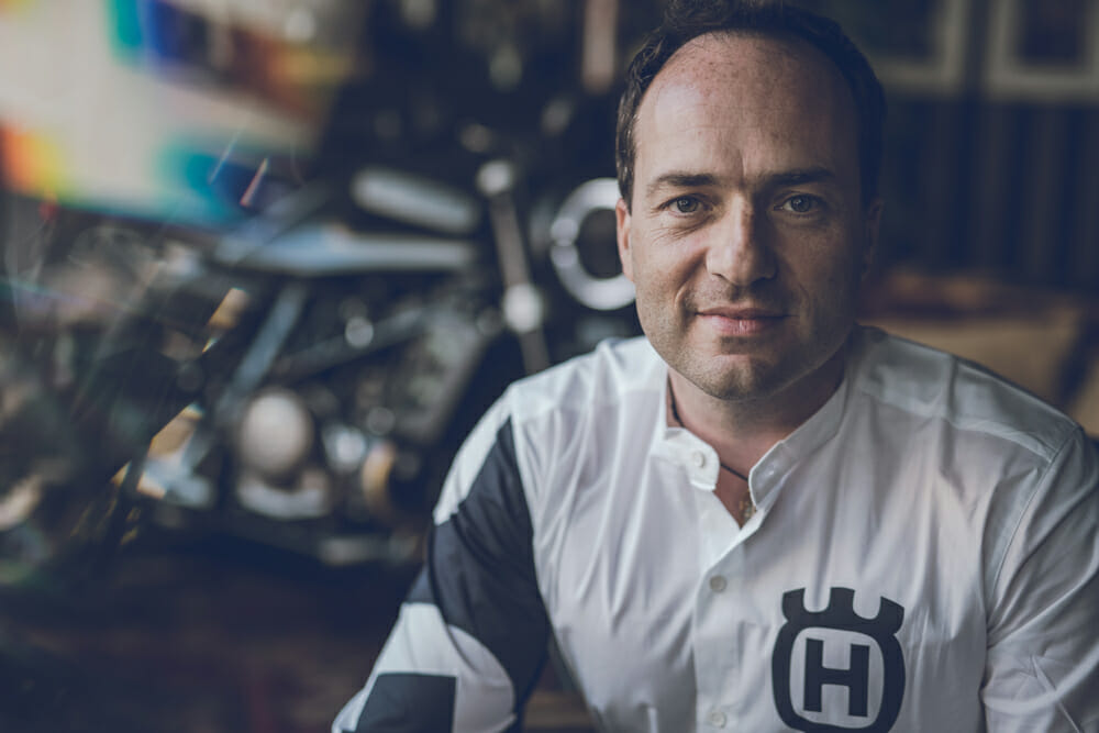 Federico Valentini is Husqvarna's Head of Global Marketing, and he's a happy man.