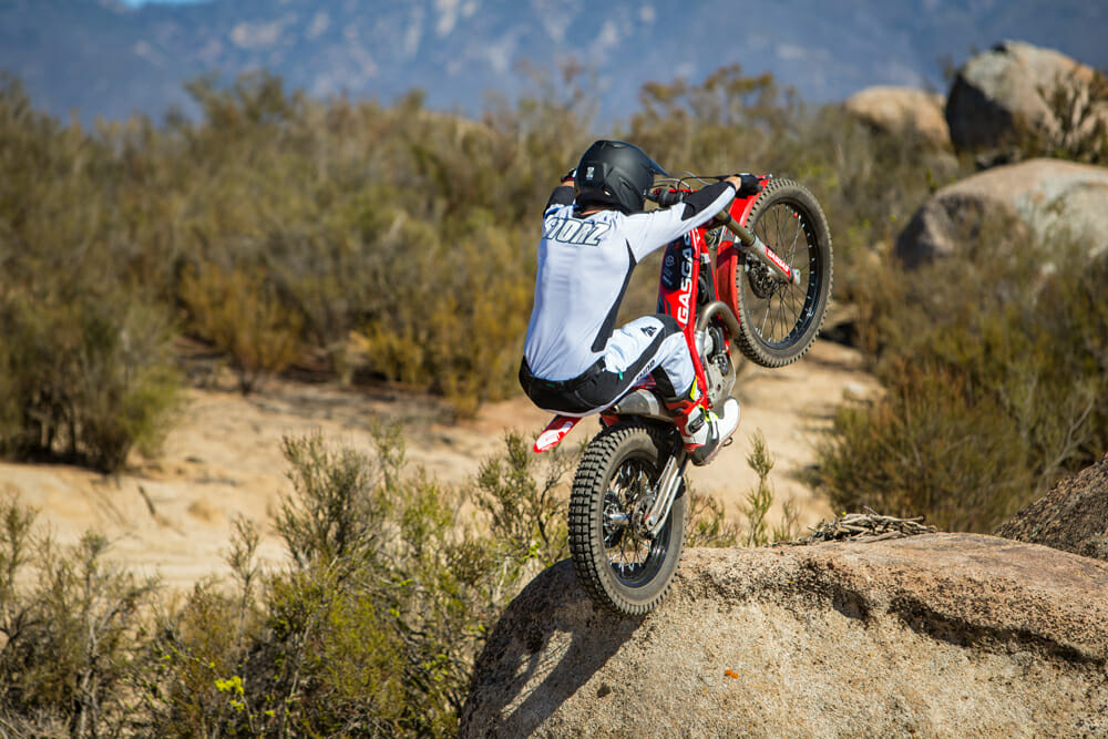 We dabble around on GasGas' latest and greatest trials machine, the 2019 GasGas TXT Racing 300