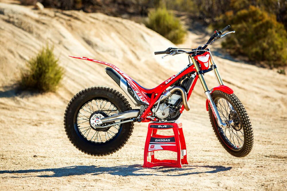 The 2019 GasGas TXT Racing 300 trials bike is ready to race right out of the crate.
