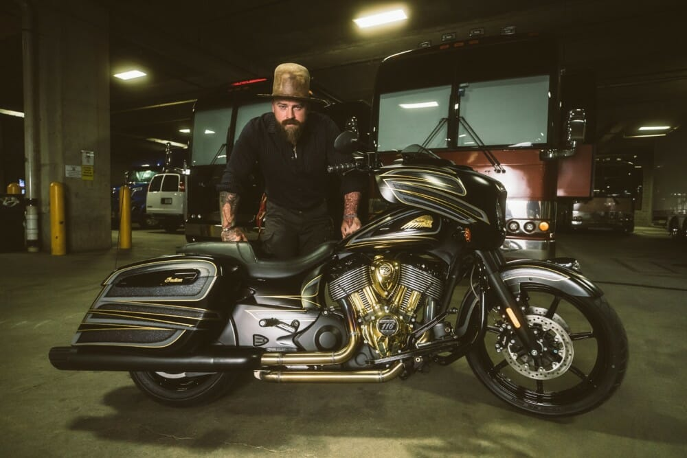 Zac Brown Collective and Indian Motorcycle build a custom bike to benefit Zac Brown's Non-Profit Organization, Camp Southern Ground