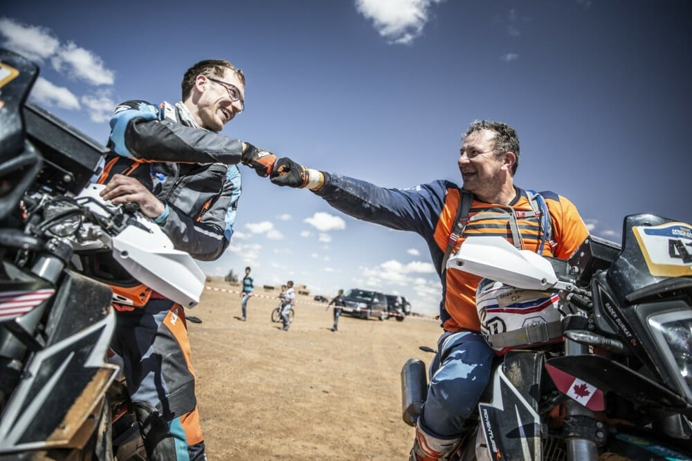 KTM Ultimate Race Finishers celebrate