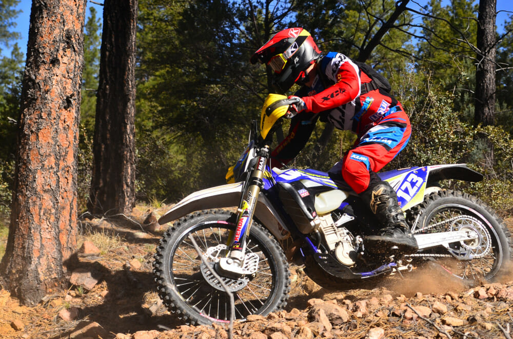 Nick Brawner (Sherco) pushes towards a second overall.