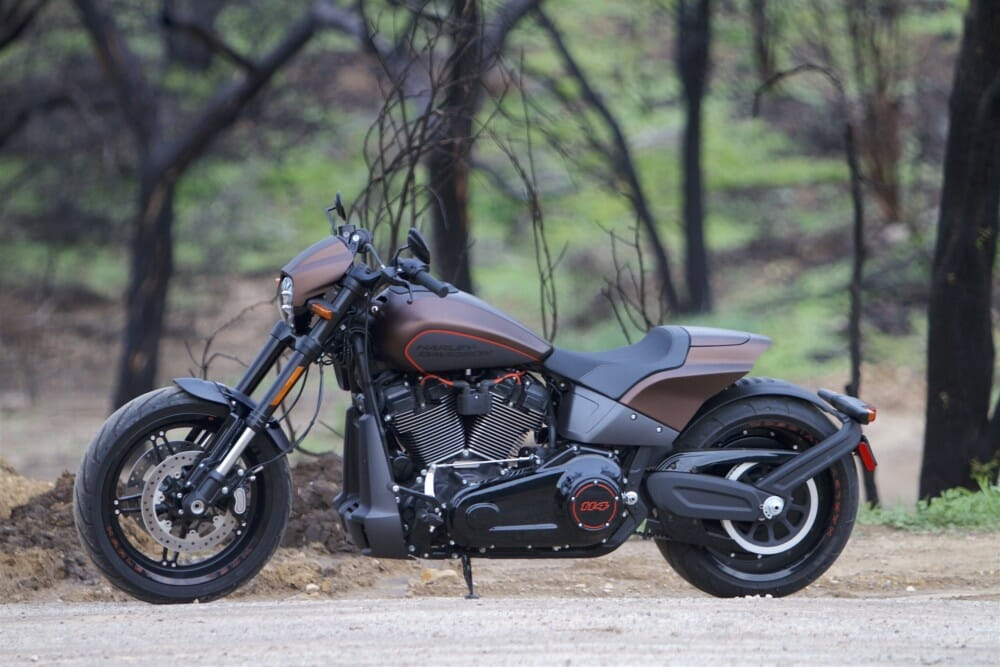 The 2019 Harley-Davidson FXDR 114 looks like a stripped-down custom.