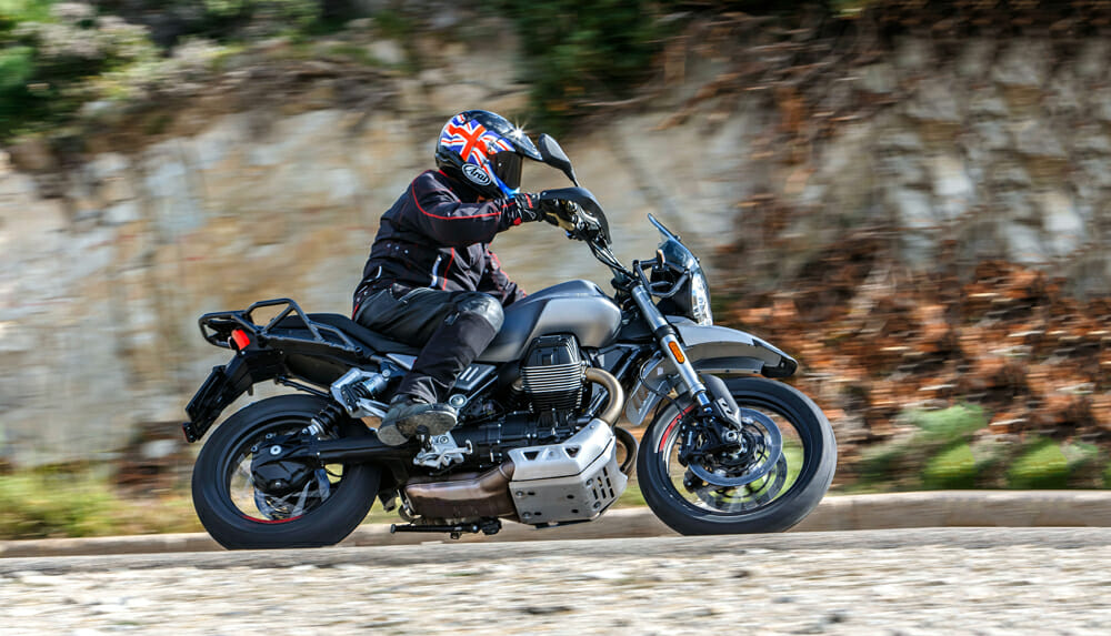The 2019 Moto Guzzi V85TT is a midsize scrambler with unique styling that's as fresh to look at as it's fun to ride.