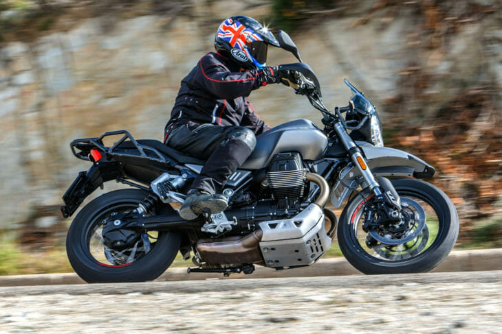 Moto Guzzi's latest entry into the flourishing midsize street scrambler market, the 2019 Moto Guzzi V85TT, features an all-new transverse 90º V-twin engine set to power a range of future models.