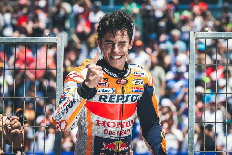 A cold French Grand Prix saw Marc Marquez take a faultless victory to extend his lead in the MotoGP World Championship.