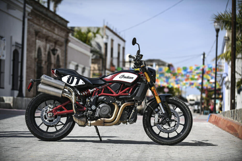 The 2019 Indian FTR 1200 Tracker Package