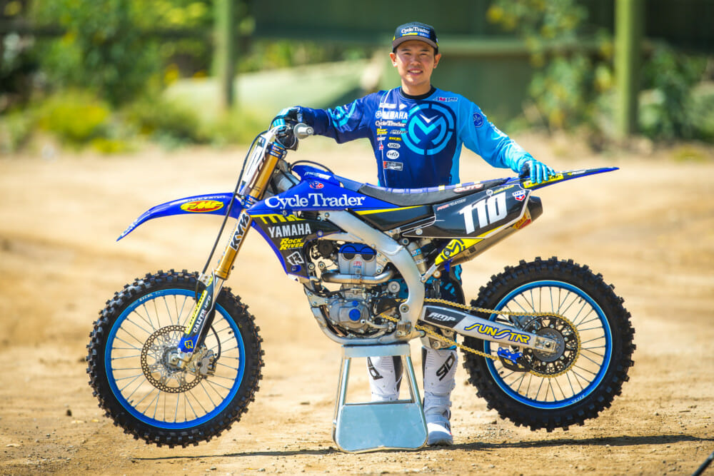 Yusuke Watanabe is set to race with the 2019 YZ250F on the CycleTrader/Rock River/Yamaha team supported by group company Yamaha Motor Corporation, U.S.A.