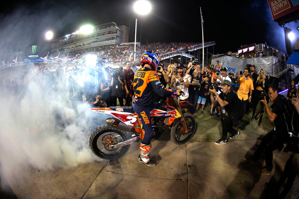 Empire of Dirt Column | Cooper Webb celebrates his first 450SX title.