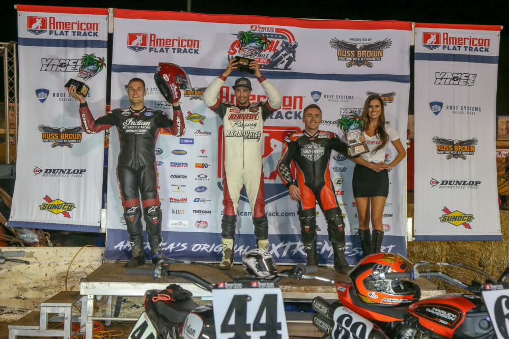 Indian Motorcycle podium at American Flat Track